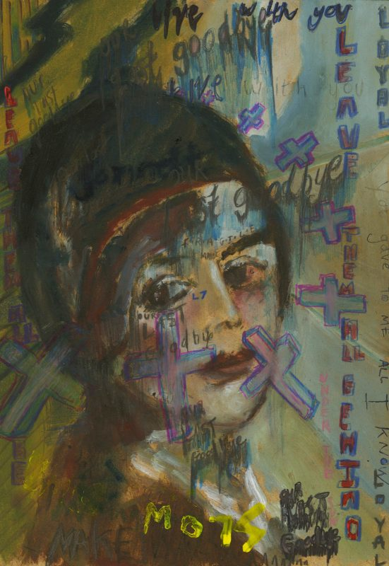 Sam Jackson | Our Last Goodbye | 2019 | Oil, marker, pencil on board | 32x22cm