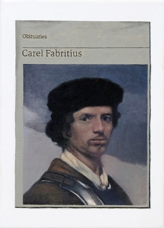 Hugh Mendes | Obituary: Carel Fabritius | 2019 | Oil on linen | 35x25cm