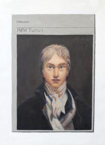 Hugh Mendes | Obituary: JMW Turner | 2019 | Oil on linen | 35x25cm