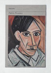 Hugh Mendes | Obituary: Pablo Picasso | 2019 | Oil on linen | 40x30cm