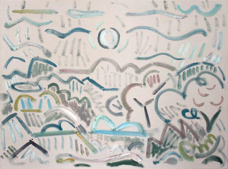 Kiera Bennett | Landscape (new year) | 2019 | Oil on canvas | 45x60cm