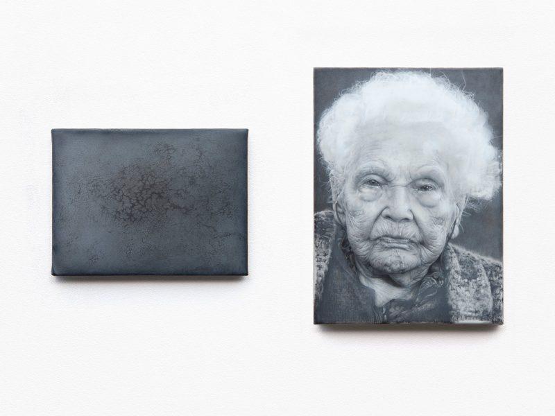 Jelena Bulajić | Untitled | Mixed media on linen | 17.1×22.8cm (left) / 30x22cm (right)