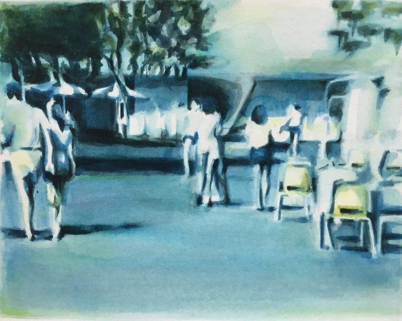 Susannah Douglas | YouTube Still (Disney World) 1 | 2019 | Ink on paper | 9×11.5cm