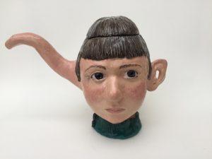 Wendy Mayer   Teapot with Ears   2019   Ceramic   17(h)x24(w)x14(d)cm