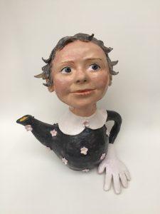 Wendy Mayer   Teapot with Glove   2019   Ceramic   28(h)x24(w)x18(d)cm