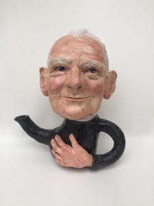 Wendy Mayer   Teapot with Old Man   2019   Ceramic   26(h)x24(w)x16(d)cm