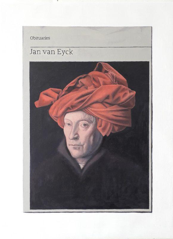 Hugh Mendes | Obituary: Jan van Eyck | 2019 | Oil on linen | 40x30cm