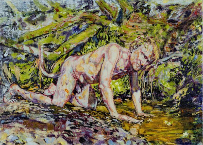 Dominic Shepherd | The Beast | 2017 | Oil on linen | 40x56cm