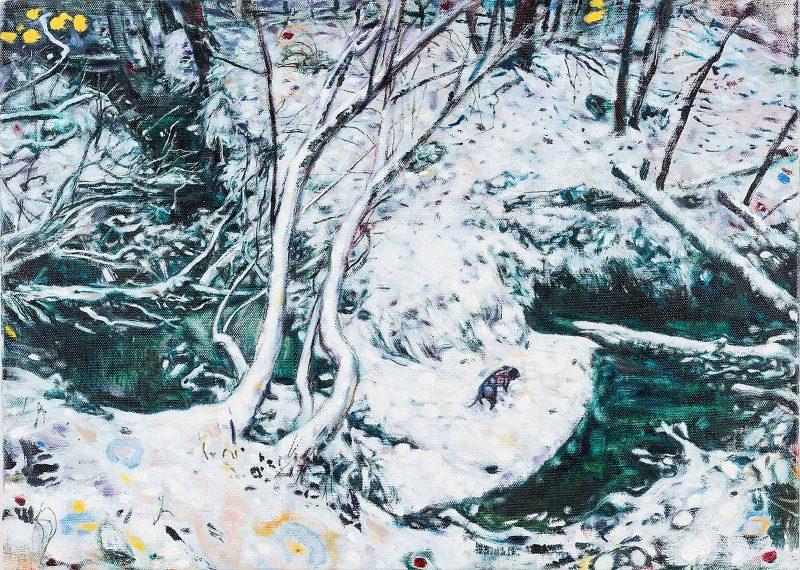 Dominic Shepherd | Black Dog | 2019 | Oil on Linen | 40x56cm