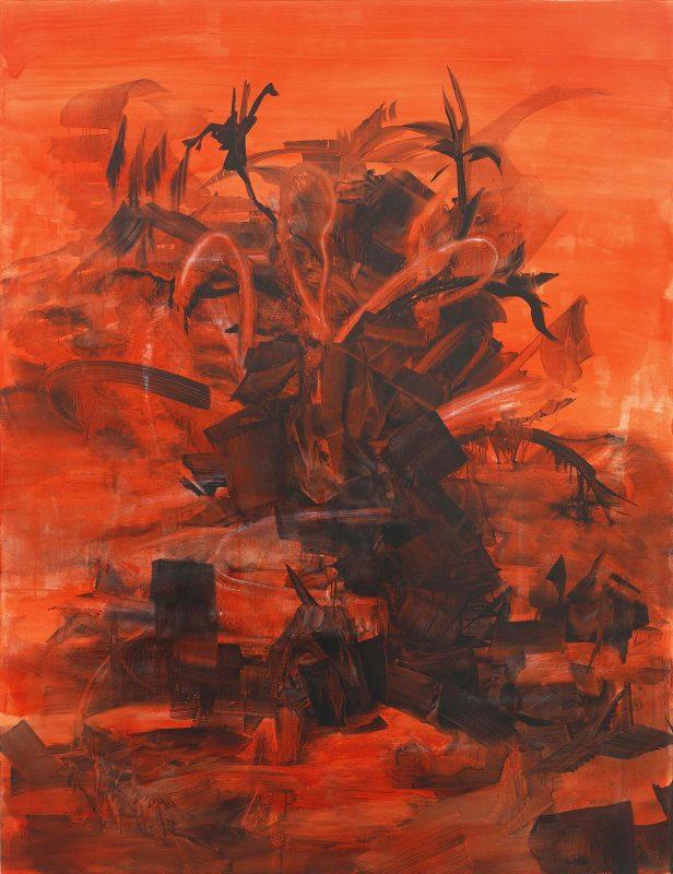 Nadine Feinson | Butcher Bird Tree | 2016 | Oil on canvas | 215x165cm