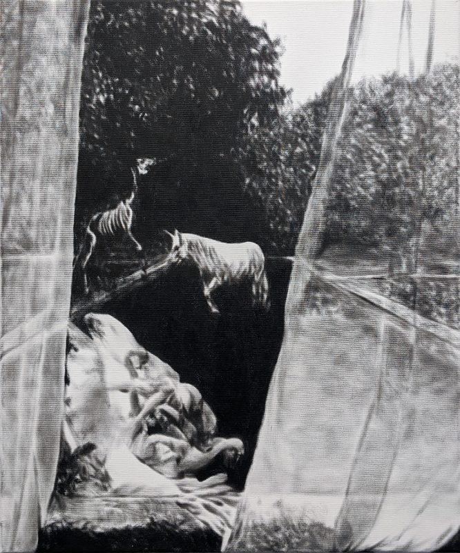Florian Heinke | Wild Roses | 2019 | Oil on canvas | 60x50cm