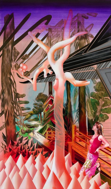 Susanne Kühn | This garden that I built for you… | 2016 | Acrylic on canvas | 220x130cm