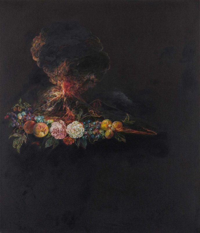 Emma Bennett | Nuée Ardente | 2019 | Oil on canvas | 72x62cm
