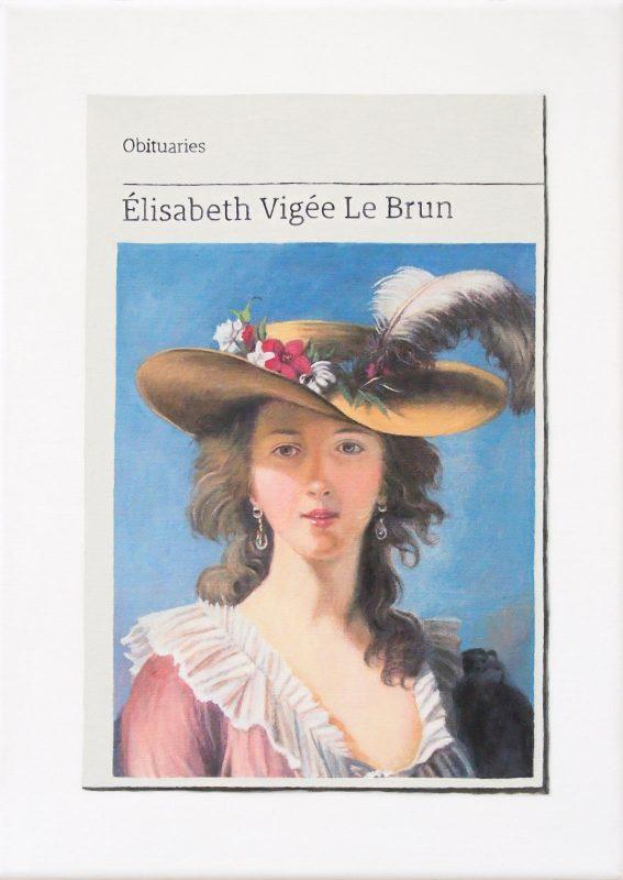 Hugh Mendes | Obituary: Élisabeth Vigée Le Brun | 2019 | Oil on linen | 35x25cm