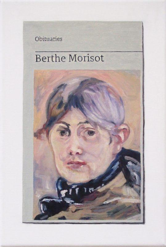 Hugh Mendes | Obituary: Berthe Morisot | 2019 | Oil on linen | 30x20cm