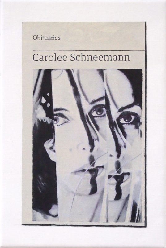 Hugh Mendes | Obituary: Carolee Schneemann | 2019 | Oil on linen | 30x20cm