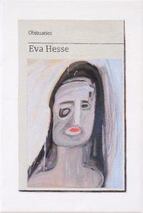 Hugh Mendes | Obituary: Eva Hesse | 2019 | Oil on linen | 30x20cm