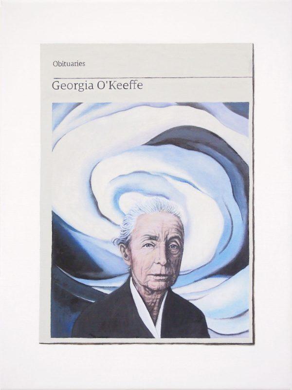 Hugh Mendes | Obituary: Georgia O'Keeffe | 2019 | Oil on linen | 40x30cm