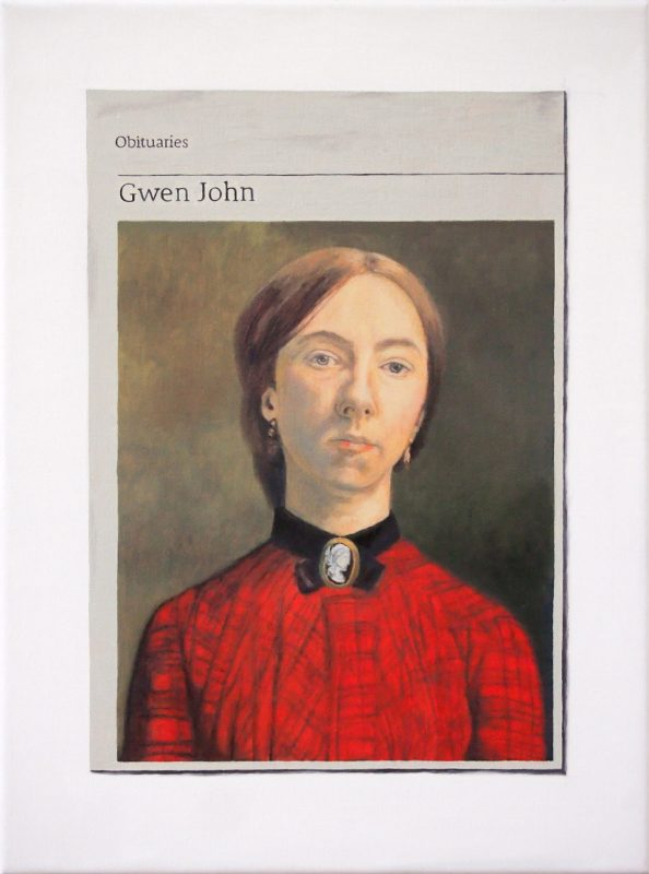 Hugh Mendes | Obituary: Gwen John | 2019 | Oil on linen | 40x30cm