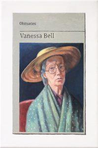 Hugh Mendes | Obituary: Vanessa Bell | 2019 | Oil on linen | 30x20cm