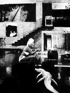 Florian Heinke | Das Wohnzimmer | 2018 | Oil on canvas | 120x90cm