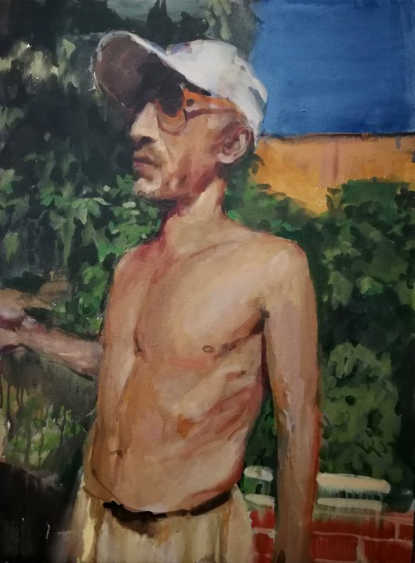 Geraldine Swayne   Archangel   2020   Enamel on canvas   61x45cm