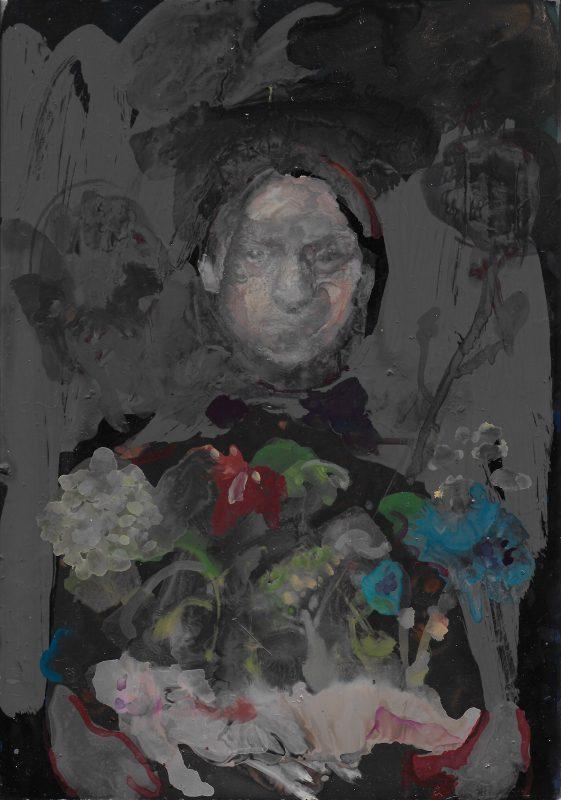 Geraldine Swayne   Witch   2019   Enamel on aluminium   32x26cm (framed)