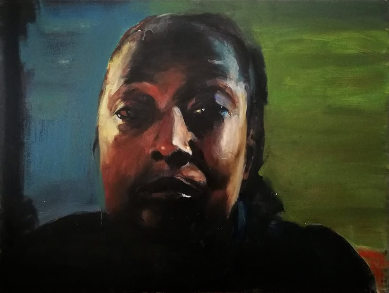 Geraldine Swayne   Woman about to cry (large)   2020   Oil, acrylic, on canvas   76x101cm