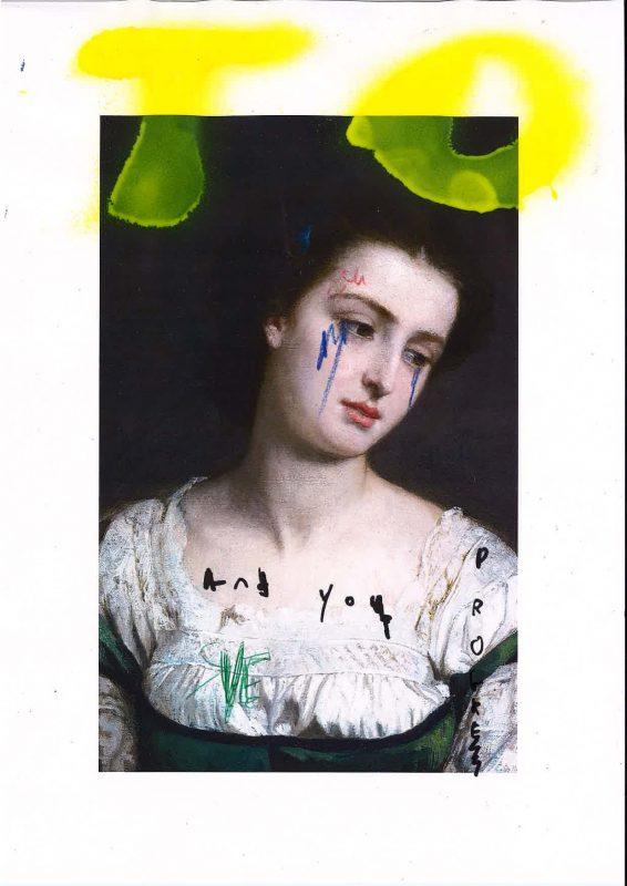 Sam Jackson | Chronicles 17-X | 2020 | Spray paint, marker, pen, pencil on paper | 29.7x21cm