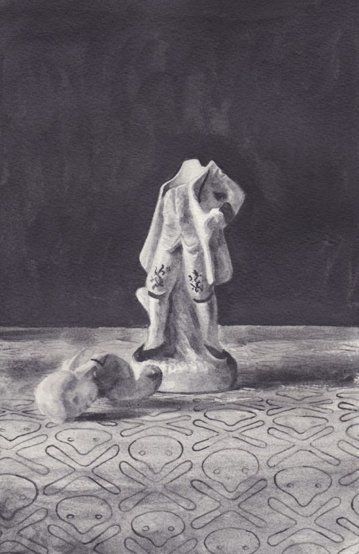 Richard Moon | Aristocrat I | 2020 | Water soluble graphite on paper | 29x19cm