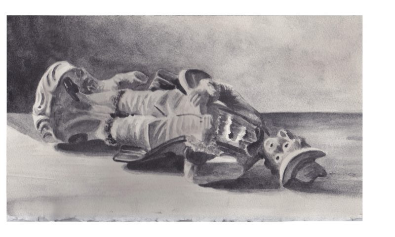 Richard Moon | Aristocrat II | 2020 | Water soluble graphite on paper | 19x33cm