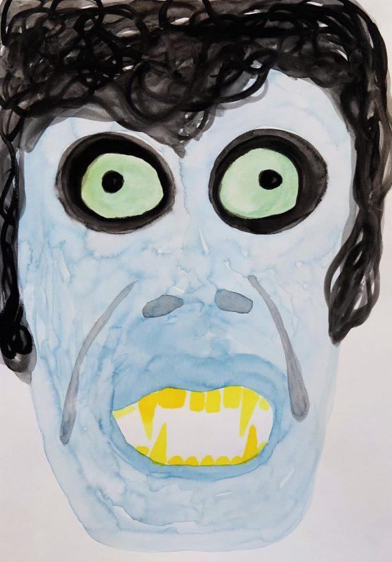 Alex Gene Morrison   Ghoul   2015   Ink on paper   29.7x21cm