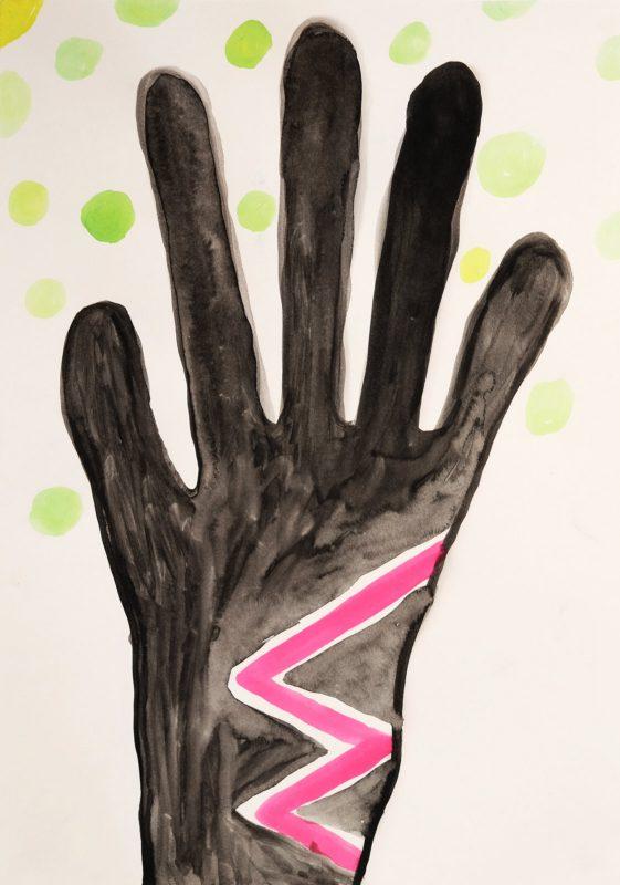 Alex Gene Morrison   Magic Hand   2015   Ink on paper   29.7x21cm