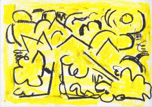 Kiera Bennett   Broken Tree 2   2020   Oil pastel on paper   29.7x21cm