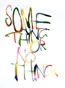Graham Dolphin | Some Thing or No Thing | 2020 | Gouache on paper | 29.7x21cm