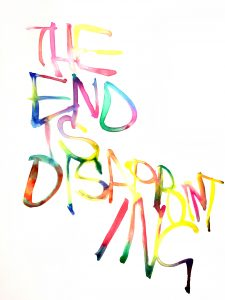 Graham Dolphin | The End is Disappointing | 2020 | Gouache on paper | 29.7x21cm