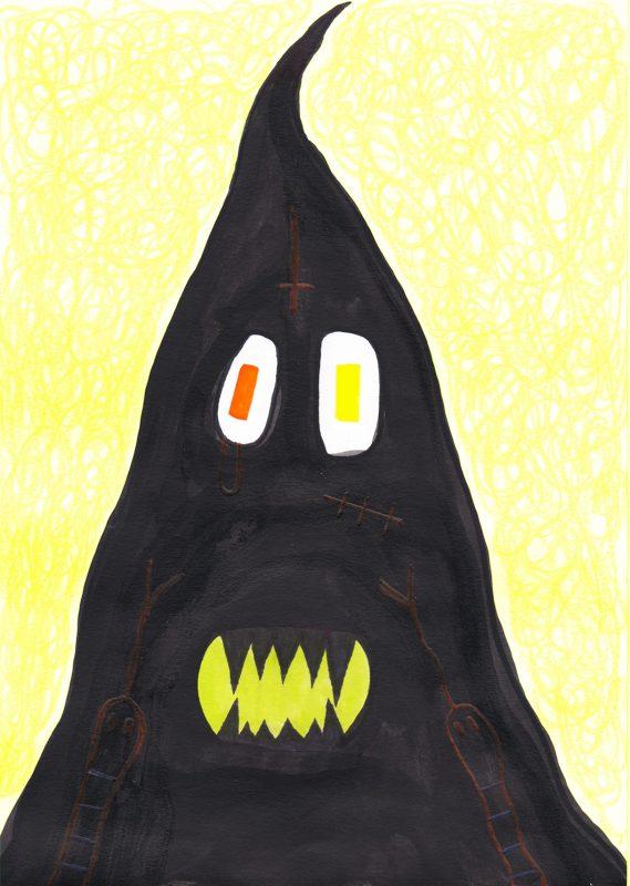 Alex Gene Morrison   Hood (Two Snakes)   2020   Ink, marker pen, crayon on paper   29.7x21cm