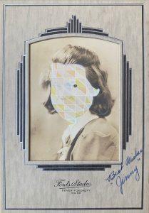 Tom Butler | Jinny | 2020 | Gouache on vintage yearbook photo | 16.5x12cm