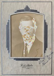 Tom Butler | Kenneth | 2020 | Gouache on vintage yearbook photo | 16.5x12cm