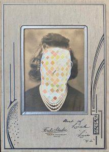 Tom Butler | Lois | 2020 | Gouache on vintage yearbook photo | 16.5x12cm