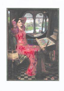Sam Jackson | Chronicles 190-X | 2020 | Spray paint, ink, pencil on paper | 29.7x21cm