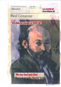 Hugh Mendes | Cezanne: La Covid-19 | 2020 | Ink, pencil, coloured pencil on digital print | 29.7×18.7cm