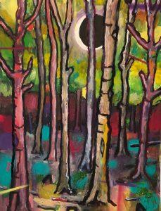 Simon Keenleyside   Feel it getting colder   2020   Oil, spray paint on paper   38x28cm