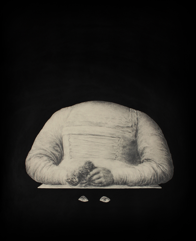 Concha Martínez Barreto   Eyes Waiting   2020   Acrylic and graphite on paper   65x53cm