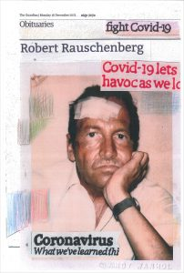 Hugh Mendes | Rauschenberg fight | 2020 | Ink, pencil, coloured pencil on digital print | 26.8×17.7cm