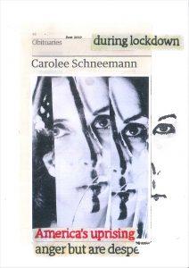 Hugh Mendes | Schneemann: during lockdown | 2020 | Ink, pencil, coloured pencil on digital print | 29.7x21cm