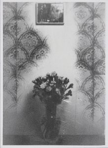 Michael Boffey | Interior with Wallpaper | 2021 | Silver gelatin on watercolour paper | 29.7x21cm