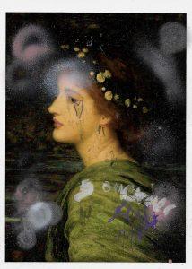 Sam Jackson | Chronicles 299-X | 2021 | Ink, spray paint, pencil on paper | 29.7x21cm