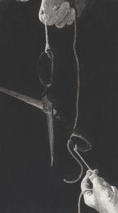 Richard Moon | Study with Scissors II | 2021 | Ink on paper | 29.5×16.5cm