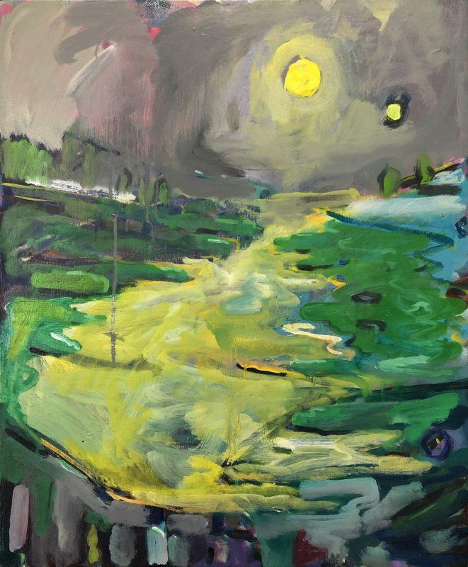 Keenleyside, Simon 'Eroded soul', 2007-20 Oil on linen 70x60cm